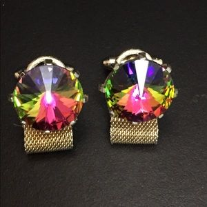 Vintage Dante Watermelon Rivoli Cuff Links